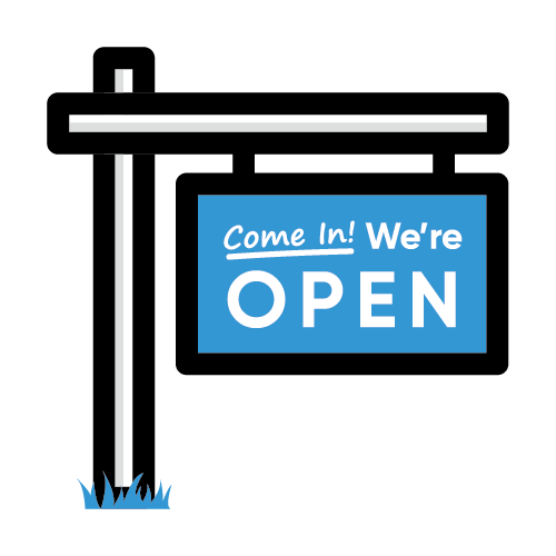 Icon of open sign for businesses