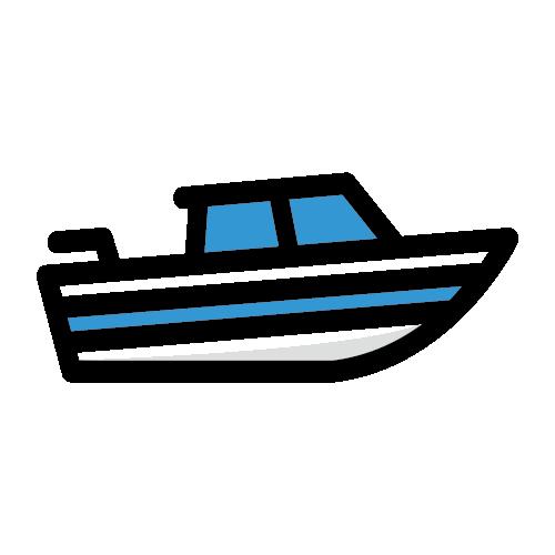 Icon of speedboat